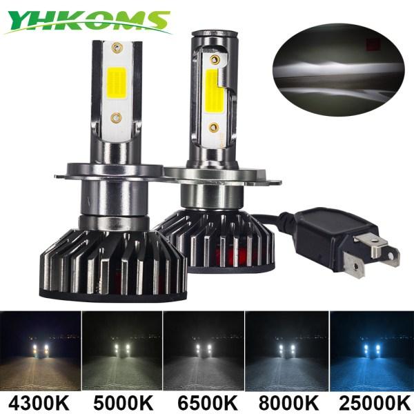 YHKOMS Mini Size Car Headlight H4 H7 LED 3000K 4300K 5000K 6500K 8000K 25000K H1 H8 YHKOMS Mini Size Car Headlight H4 H7 LED 3000K 4300K 5000K 6500K 8000K 25000K H1 H8 H9 H11 9005 9006 LED Bulb Auto Fog Light 12V