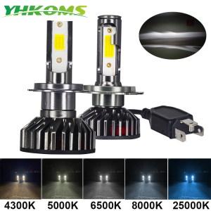 YHKOMS Mini Size Car Headlight H4 H7 LED 3000K 4300K 5000K 6500K 8000K 25000K H1 H8 Innrech Market.com