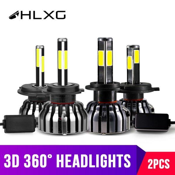 hlxg 4 Sides 12000LM H8 H11 Fog lights No Error h7 led canbus H4 LED Lamp hlxg 4 Sides 12000LM H8 H11 Fog lights No Error h7 led canbus H4 LED Lamp HB3 9005 HB4 H1 H27 Auto 12V 6000K 4300K 8000K 5000K