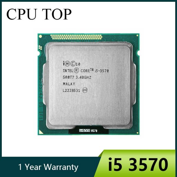 intel i5 3570 Processor Quad Core 3 4Ghz L3 6M 77W Socket LGA 1155 Desktop CPU intel i5 3570 Processor Quad-Core 3.4Ghz L3=6M 77W Socket LGA 1155 Desktop CPU working 100%