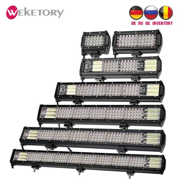 weketory Quad Rows 4 44 Inch LED Bar LED Light Bar for Car Tractor Boat OffRoad weketory Quad Rows 4 - 44 Inch LED Bar LED Light Bar for Car Tractor Boat OffRoad Off Road 4WD 4x4 Truck SUV ATV Driving 12V 24V