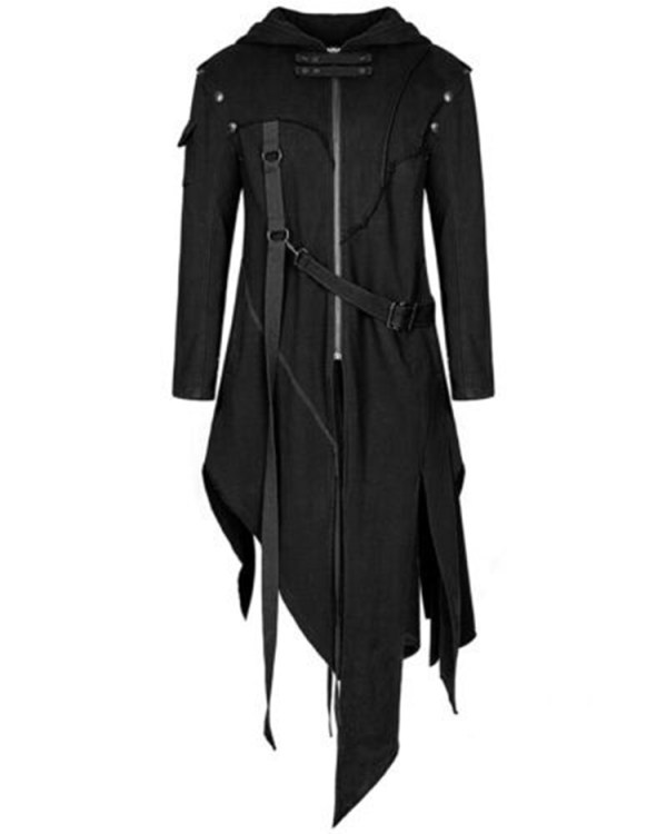 2019 Men Long Sleeve Steampunk Victorian Jacket Gothic Belt Swallow Tail Coat Cosplay Costume Vintage Halloween 3 2019 Men Long Sleeve Steampunk Victorian Jacket Gothic Belt Swallow-Tail Coat Cosplay Costume Vintage Halloween Long Uniform