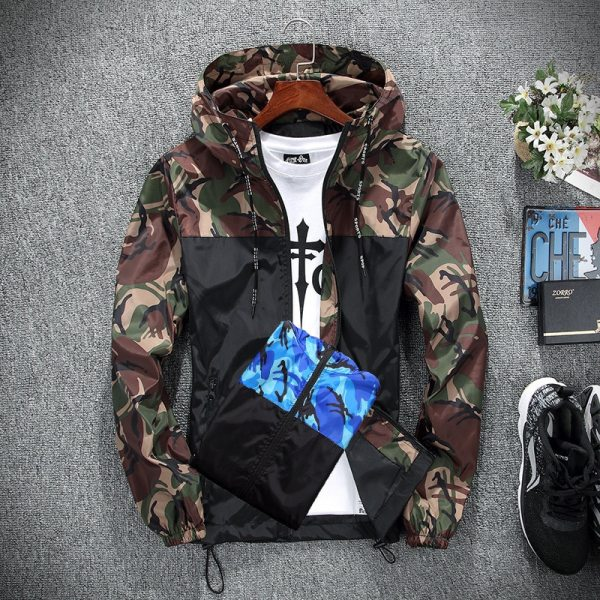 2019 Men s wear casual camouflage jacket of Slim handsome spring autumn casual solid color large 2 2019 Men's wear casual camouflage jacket. of Slim handsome spring autumn casual solid color large size baseball clothes