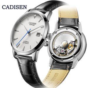 CADISEN Men Watches Automatic Mechanical Wrist Watch MIYOTA 9015 Top Brand Luxury Real Diamond Watch Curved Innrech Market.com
