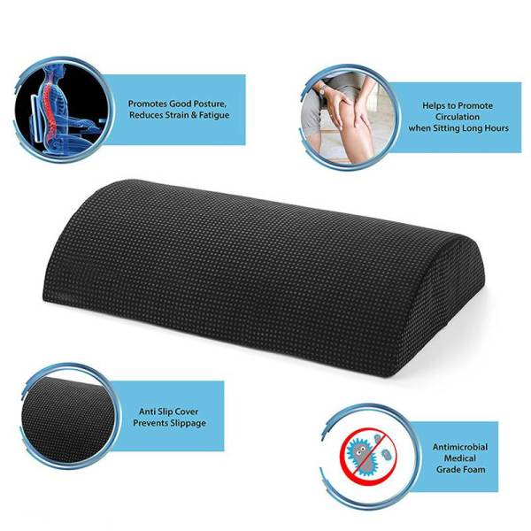 Comfort Foot Rest Pillow Cushion Memory Foam Under Office Desk Half Cylinder Home Foot Relax Pain 3 Comfort Foot Rest Pillow Cushion Memory Foam Under Office Desk Half Cylinder Home Foot Relax Pain Relief Relaxing Cushion Pad