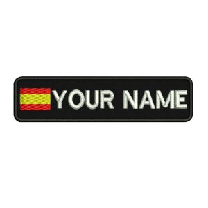 Custom SPAIN name patches tags personalized iron on hook backing Innrech Market.com