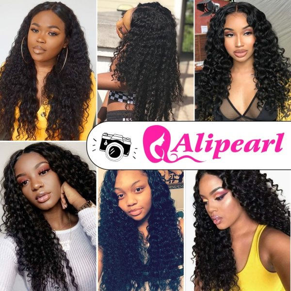 Deep Wave Human Hair Bundles With Closure 6x6 Free Part Pre Plucked Brazilian Bundles With Closure 5 Deep Wave Human Hair Bundles With Closure 6x6 Free Part Pre Plucked Brazilian Bundles With Closure Remy Hair Extension AliPearl