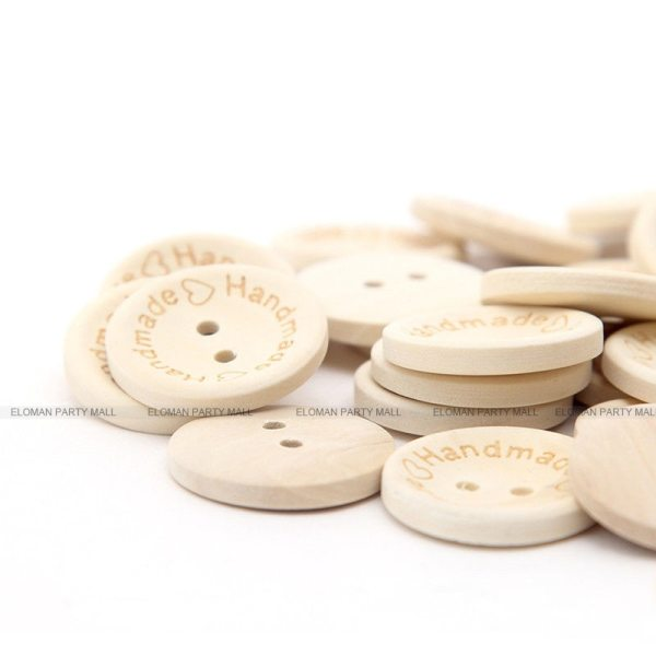 ELOMAN 50PCS lot Natural Color Wooden Buttons handmade love Letter wood button craft DIY baby apparel 5 ELOMAN 50PCS/lot Natural Color Wooden Buttons handmade love Letter wood button craft DIY baby apparel accessories