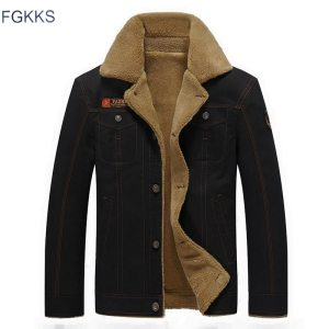 FGKKS 2018 Men Jacket Coats Winter Military Bomber Jackets Male Jaqueta Masculina Fashion Denim Jacket Mens Innrech Market.com