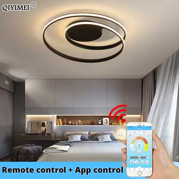 Modern Ceiling Lights LED Lamp For Living Room Bedroom Study Room White black color surface mounted Modern Ceiling Lights LED Lamp For Living Room Bedroom Study Room White black color surface mounted Ceiling Lamp Deco AC85-265V