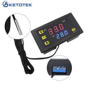 W3230 DC 12V 24V 110V 220V AC Digital Temperature Controller LED Display Thermostat With Heating Cooling Innrech Market.com