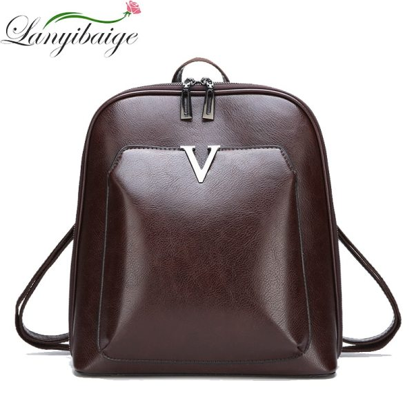 2018 Women Vintage Backpack Leather Luxurious Women Backpack Large Capacity School Bag For Girls Leisure Shoulder 2018 Women Vintage Backpack Leather Luxurious Women Backpack Large Capacity School Bag For Girls Leisure Shoulder Bags For Women