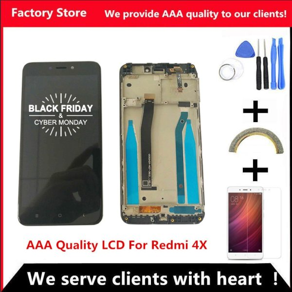 AAA Quality LCD Frame For Xiaomi Redmi 4X LCD Display Screen Replacement For Redmi 4X Digiziter AAA Quality LCD+Frame For Xiaomi Redmi 4X LCD Display Screen Replacement For Redmi 4X Digiziter Assembly
