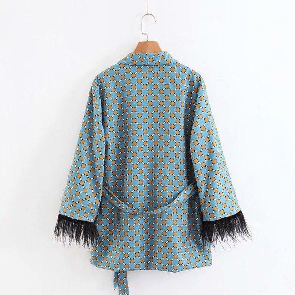 Fashion jacket women loose kimono coat bow tie sashes pockets tassel decorate outerwear oversized ladies autumn 4 Fashion jacket women loose kimono coat bow tie sashes pockets tassel decorate outerwear oversized ladies autumn