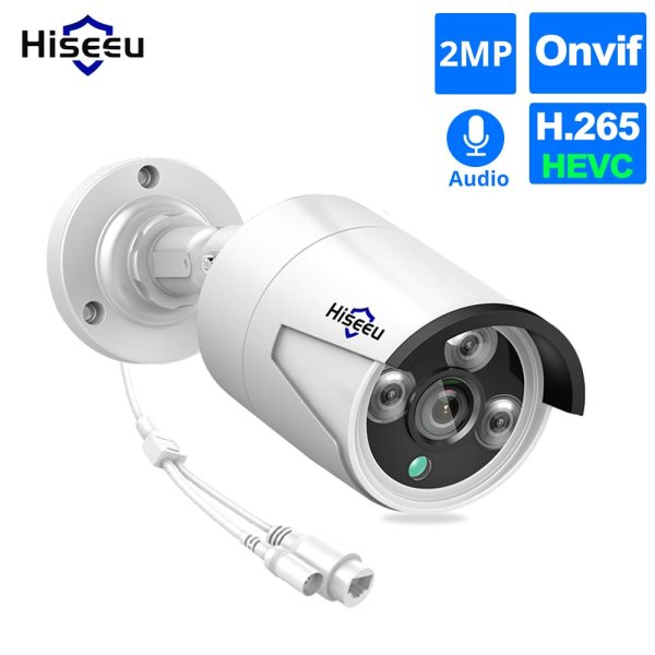 Hiseeu 1080P POE IP Camera ONVIF H 265 Audio Record CCTV Camera 2 0mp Waterproof IP66 Hiseeu 1080P POE IP Camera ONVIF H.265 Audio Record CCTV Camera 2.0mp Waterproof IP66 Outdoor Home Security Video Surveillance