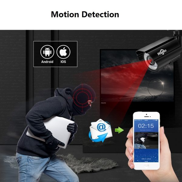 Hiseeu CCTV camera System 4CH 720P 1080P AHD security Camera DVR Kit CCTV waterproof Outdoor home 2 Hiseeu CCTV camera System 4CH 720P/1080P AHD security Camera DVR Kit CCTV waterproof Outdoor home Video Surveillance System HDD
