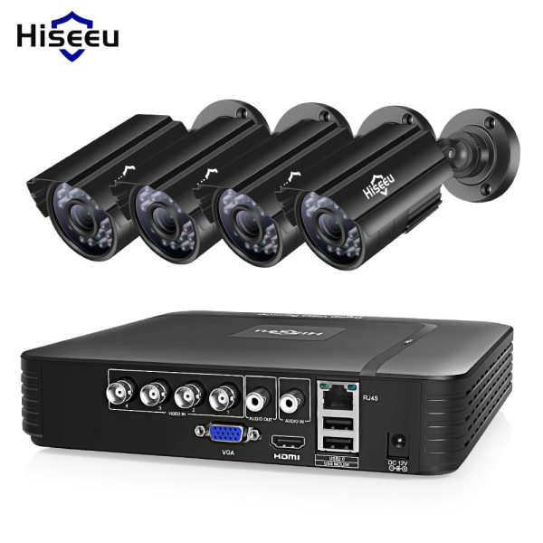 Hiseeu CCTV camera System 4CH 720P 1080P AHD security Camera DVR Kit CCTV waterproof Outdoor home Hiseeu CCTV camera System 4CH 720P/1080P AHD security Camera DVR Kit CCTV waterproof Outdoor home Video Surveillance System HDD