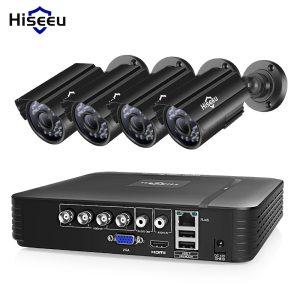 Hiseeu CCTV camera System 4CH 720P 1080P AHD security Camera DVR Kit CCTV waterproof Outdoor home Innrech Market.com