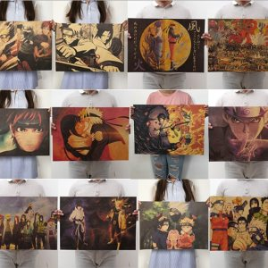 New Naruto Poster vintage Classic Anime Cartoon Kraft Paper Poster Painting Wall Stickers Home Decorative Innrech Market.com