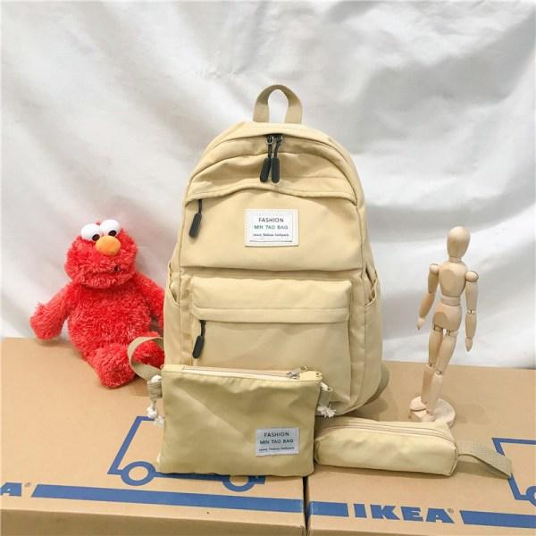 Nylon Backpack Women Backpack Solid Color Travel Bag Large Shoulder Bag For Teenage Girl Student School 3 Nylon Backpack Women Backpack Solid Color Travel Bag Large Shoulder Bag For Teenage Girl Student School Bag Bagpack Rucksack