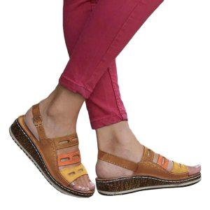 PUIMENTIUA PU Leather Wedges Shoes Women High Heels Sandals Casual Summer Shoes Flip Flop Femme Platform Innrech Market.com