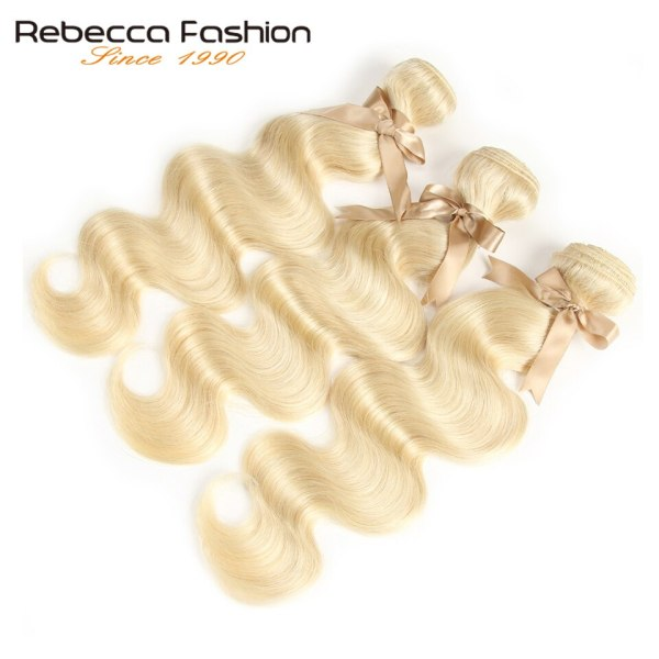Rebecca 613 Blonde Bundles With Closure Brazilian Body Wave Remy Human Hair Weave Bundles 613 Honey 3 Rebecca 613 Blonde Bundles With Closure Brazilian Body Wave Remy Human Hair Weave Bundles 613 Honey Blonde Bundles With Closure
