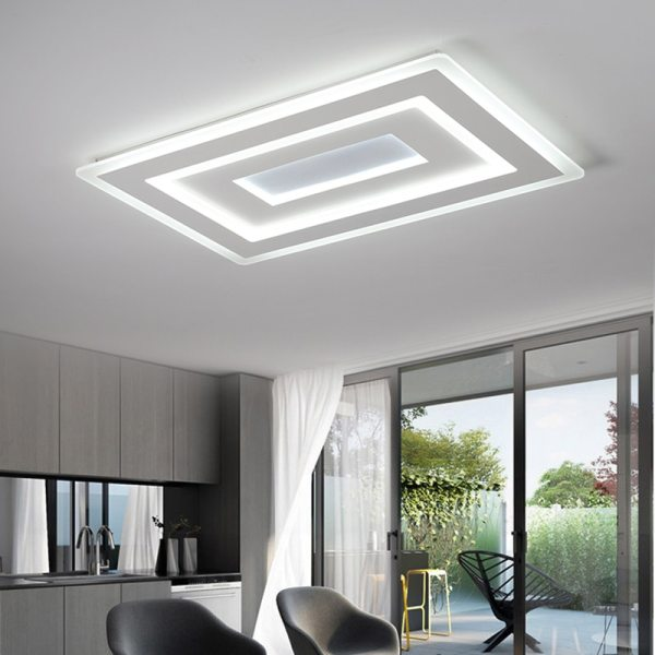 Surface Mounted Modern Led Ceiling Lights for living room bedroom Ultra thin lamparas de techo Rectangle 3 Surface Mounted Modern Led Ceiling Lights for living room bedroom Ultra-thin lamparas de techo Rectangle Ceiling lamp fixtures