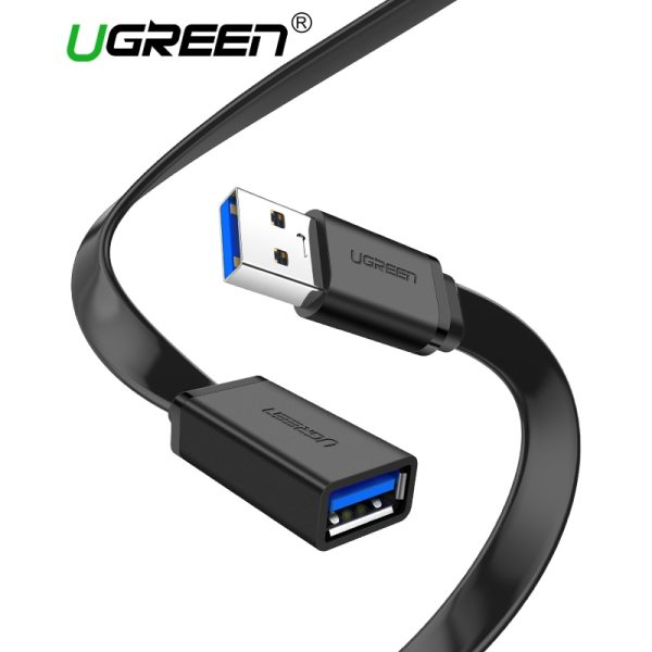 Ugreen USB 3 0 Cable Flat USB Extension Cable Male to Female Data Cable USB3 0 Ugreen USB 3.0 Cable Flat USB Extension Cable Male to Female Data Cable USB3.0 Extender Cord for PC TV USB Extension Cable