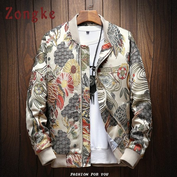 Zongke Japanese Embroidery Men Jacket Coat Man Hip Hop Streetwear Men Jacket Coat Bomber Jacket Men Zongke Japanese Embroidery Men Jacket Coat Man Hip Hop Streetwear Men Jacket Coat Bomber Jacket Men Clothes 2019 Sping New
