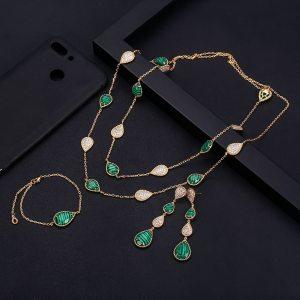 janeklly trendy Wedding Necklace Earrings For Women Accessories Full Cubic Zirconia Bridal Jewelry Sets pendientes mujer Innrech Market.com