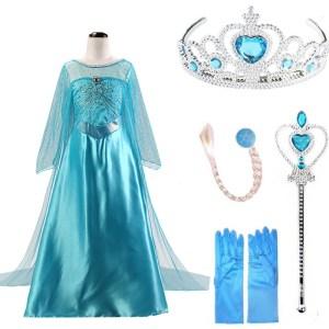 2019 Elsa Dresses For Girls Princess Anna Elsa Costumes Party Cosplay Elza Vestidos Hair Accessory Set Innrech Market.com