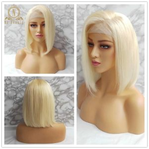 613 Short Bob Wigs 1B 613 Ombre Honey Remy Pre Plucked Straight 13x6 Blonde Lace Front Innrech Market.com