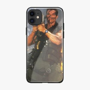 Arnold Schwarzenegger movie Commando 1985 poster glossy smooth tempered glass case For Apple iPhone 11 PRO Innrech Market.com