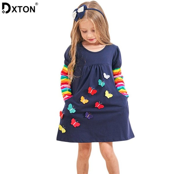 DXTON 2018 New Girls Dresses Long Sleeve Baby Girls Winter Dresses Kids Cotton Clothing Casual Dresses DXTON 2018 New Girls Dresses Long Sleeve Baby Girls Winter Dresses Kids Cotton Clothing Casual Dresses for 2-8 Years Children