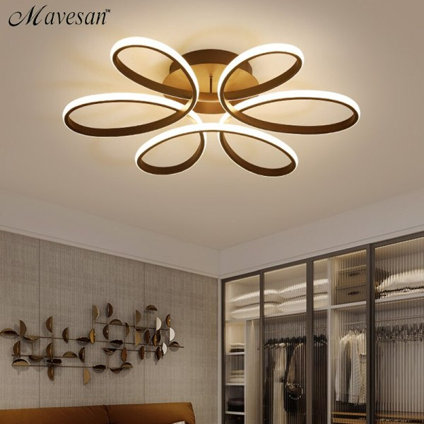 Living room ceiling lamp led dimmable for bedroom aluminum body indoor lighting fixture plafonnier led lights 2 Living room ceiling lamp led dimmable for bedroom aluminum body indoor lighting fixture plafonnier led lights dining room