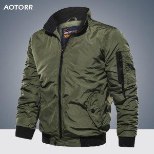 Men s Outwear Baseball Jacket Flight Bomber Coat Mens 2019 Spring Autumn Army Green Military Streetwear Innrech Market.com