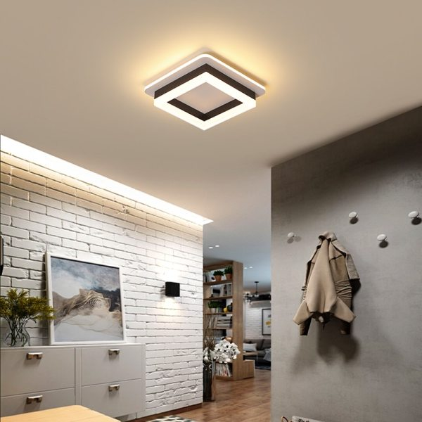 Modern Led Ceiling Lights For Hallway Porch Balcony Bedroom Living Room Surface Mounted Square Round LED 3 Modern Led Ceiling Lights For Hallway Porch Balcony Bedroom Living Room Surface Mounted Square/Round LED Ceiling Lamp