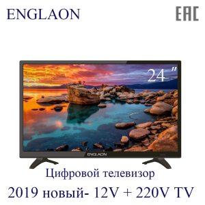TV 24 inch LED TV ENGLAON 12V 220V HDTV digital TV dvb T2 Home Car TV Innrech Market.com