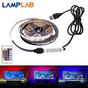 USB DC 5V LED Strip 50CM 1M 2M 3M 4M 5M SMD 2835 Cable Power 3Key Innrech Market.com
