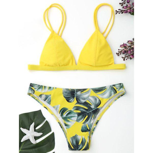 Women s Swimming Suit Sexy Bikini Swimsuit Women Swimwear Bikini Set Print Leaves Push Up Padded Women's Swimming Suit Sexy Bikini Swimsuit Women Swimwear Bikini Set Print Leaves Push-Up Padded Bathing Swimsuit Beachwear