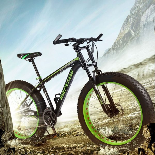 wolf s fang Bicycle 7 21 24 Speed Mountain Bike 26 4 0 Fat bike bicicleta 3 wolf's fang Bicycle 7/21/24 Speed Mountain Bike 26*4.0 Fat bike bicicleta  mtb  Road Folding bike Men Women free shipping