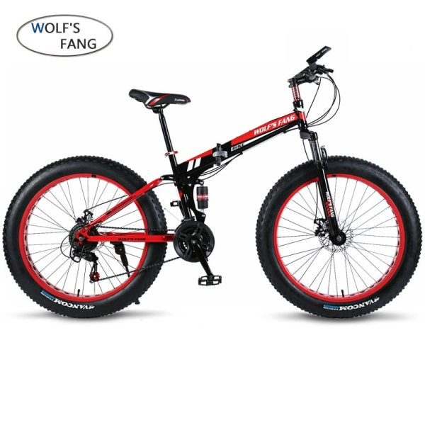 wolf s fang Bicycle 7 21 24 Speed Mountain Bike 26 4 0 Fat bike bicicleta wolf's fang Bicycle 7/21/24 Speed Mountain Bike 26*4.0 Fat bike bicicleta  mtb  Road Folding bike Men Women free shipping