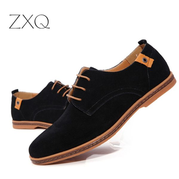 2019 fashion men casual shoes new spring men flats lace up male suede oxfords men leather 4 2019 fashion men casual shoes new spring men flats lace up male suede oxfords men leather shoes zapatillas hombre size 38-48