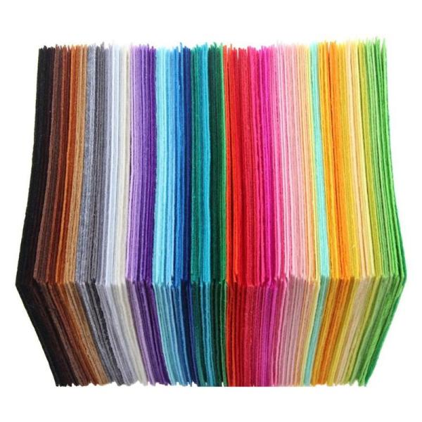 40pcs set Non Woven Felt Fabric Polyester Cloth Felt Fabric DIY Bundle for Sewing Doll Handmade 40pcs/set Non-Woven Felt Fabric Polyester Cloth Felt Fabric DIY Bundle for Sewing Doll Handmade Craft Thick Home Decor Colorful