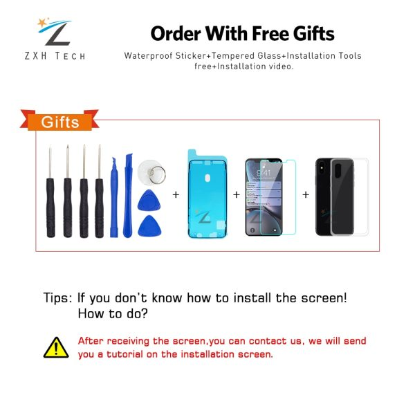 AAA For iPhone X OLED With 3D Touch Digitizer Assembly No Dead Pixel LCD Screen Replacement 3 AAA+++ For iPhone X OLED With 3D Touch Digitizer Assembly No Dead Pixel LCD Screen Replacement Display For iPhoneX LCD with Gift