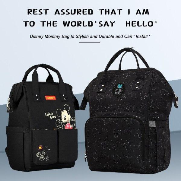 Disney Diaper Bag Backpack For Moms Baby Bag Maternity For Baby Care Nappy Bag Travel Stroller 4 Disney Diaper Bag Backpack For Moms Baby Bag Maternity For Baby Care Nappy Bag Travel Stroller USB Heating Send Free 1Piar Hooks