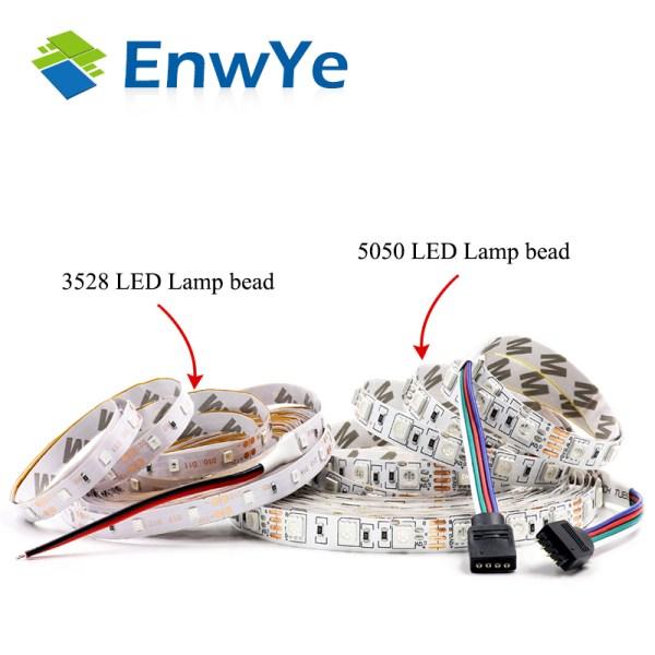 EnwYe 5M 300Leds waterproof RGB Led Strip Light 3528 5050 DC12V 60Leds M Fiexble Light Led 1 EnwYe 5M 300Leds waterproof RGB Led Strip Light 3528 5050 DC12V 60Leds/M Fiexble Light Led Ribbon Tape Home Decoration Lamp
