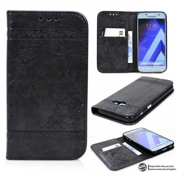 Flip Wallet Leather Case for Samsung Galaxy A7 2017 A5 A3 Cover Embossed Flip Book Cases 4 Flip Wallet Leather Case for Samsung Galaxy A7 2017 A5 A3 Cover Embossed Flip Book Cases for Samsung A5 A3 2016 A310 A510 Bag