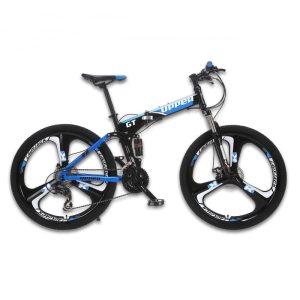 GT UPPER Mountain Bike Full Suspension Steel Foldable Frame 24 Speed Shimano Mechanic Brake Alloy Wheel Innrech Market.com