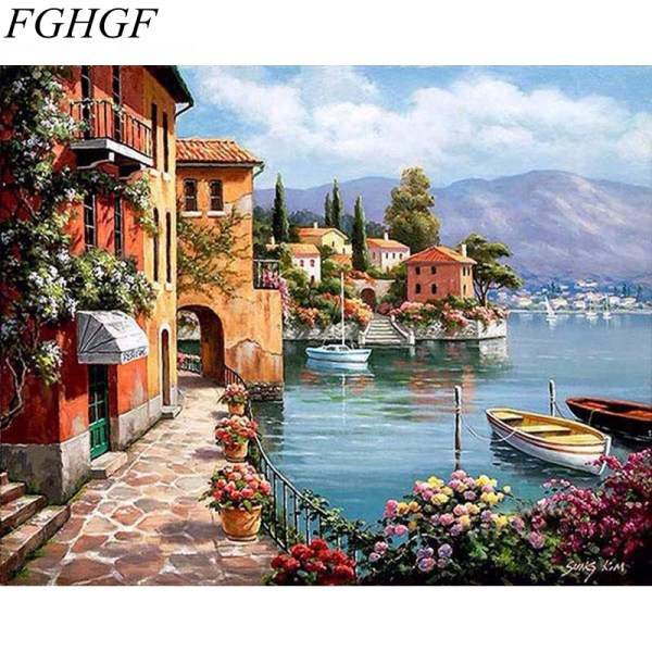 Landscape Painting By Numbers Animal Figure Coloring By Numbers Pictures Home Decor Oil Paint Acrylic Painting Landscape Painting By Numbers Animal Figure Coloring By Numbers Pictures Home Decor Oil Paint Acrylic Painting Diy Paintings